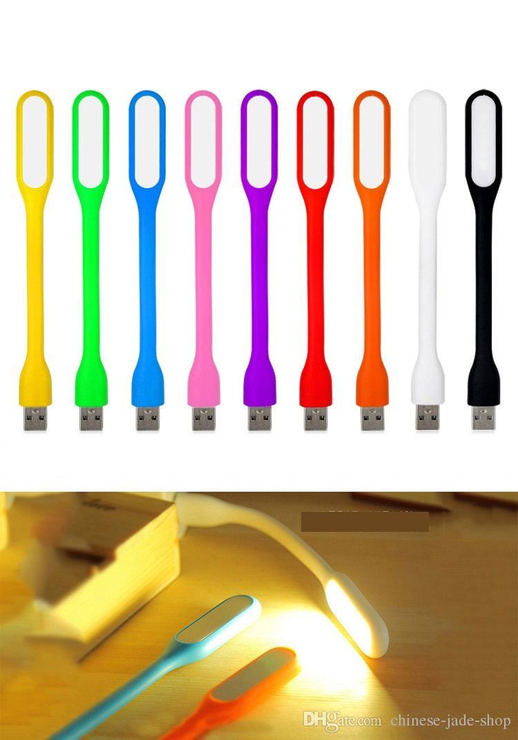 Portabel USB LED-lampa Ljus Flexibel Böjbar Mini USB-ljus för anteckningsbok Laptop Tablet Power Bank USB-gadets med eller med Witout Paket V