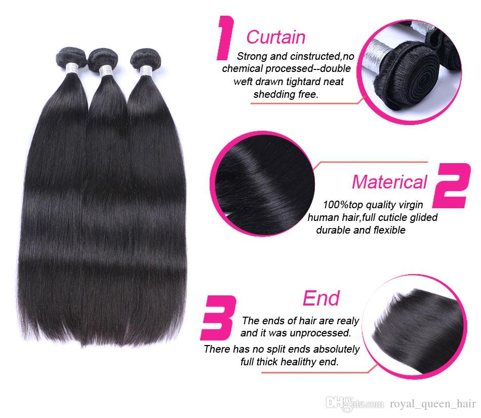 페루 스트레이트 버진 인간의 머리카락 번들 처리되지 않은 페루 레미 인간의 머리카락 확장 자연 블랙 더블 Wefts는 염색 수 있습니다
