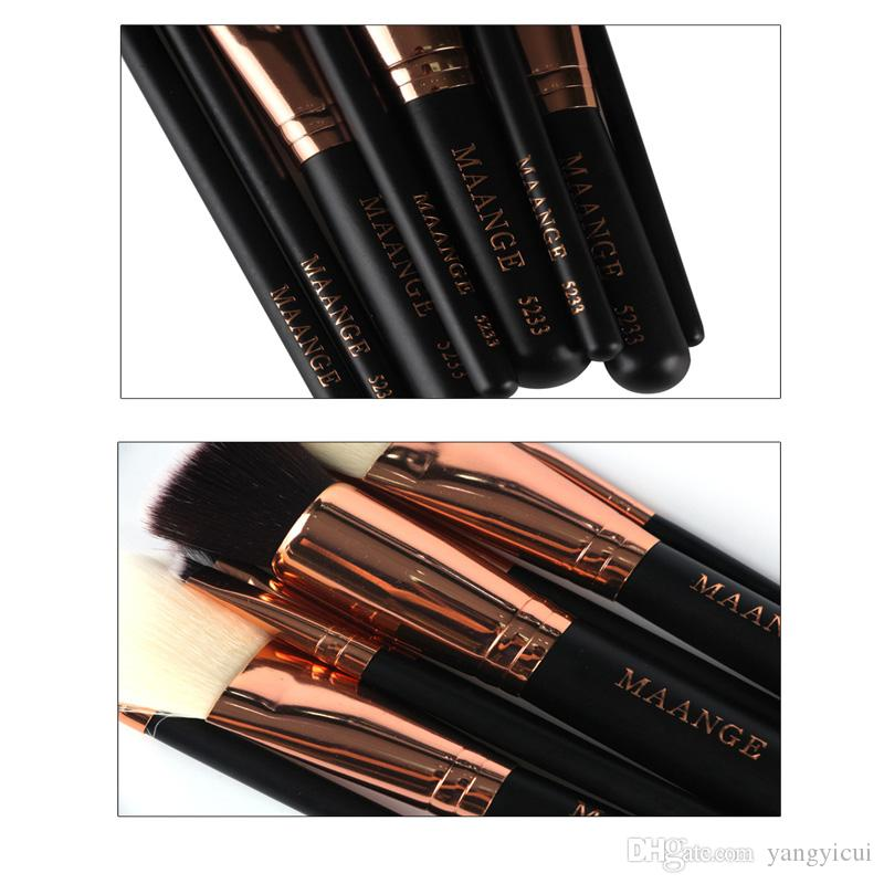 Makeup Brush Set Professional Mulpurpose Powder Foudation Blush Eyeshadow Eyebrow Wood Handle Make Up Comestic Tools