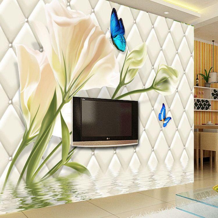 Seamless 3d Wallpaper Mural Elegant Lily Large Wallpaper Wallpaper Living  Room Tv Bedroom Sofa Background Soft Bag Cars Wallpaper Cars Wallpapers  From ...