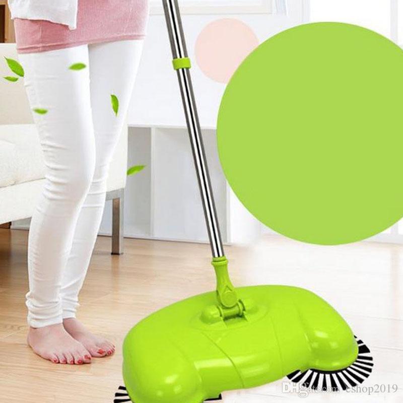 التلقائي ناحية دفع كاسحة ماجيك الغزل مكنسة التنظيف لا الكهربائية المنزلية مكنسة مجرفة تعيين الطابق تنظيف المنزل 3 in1
