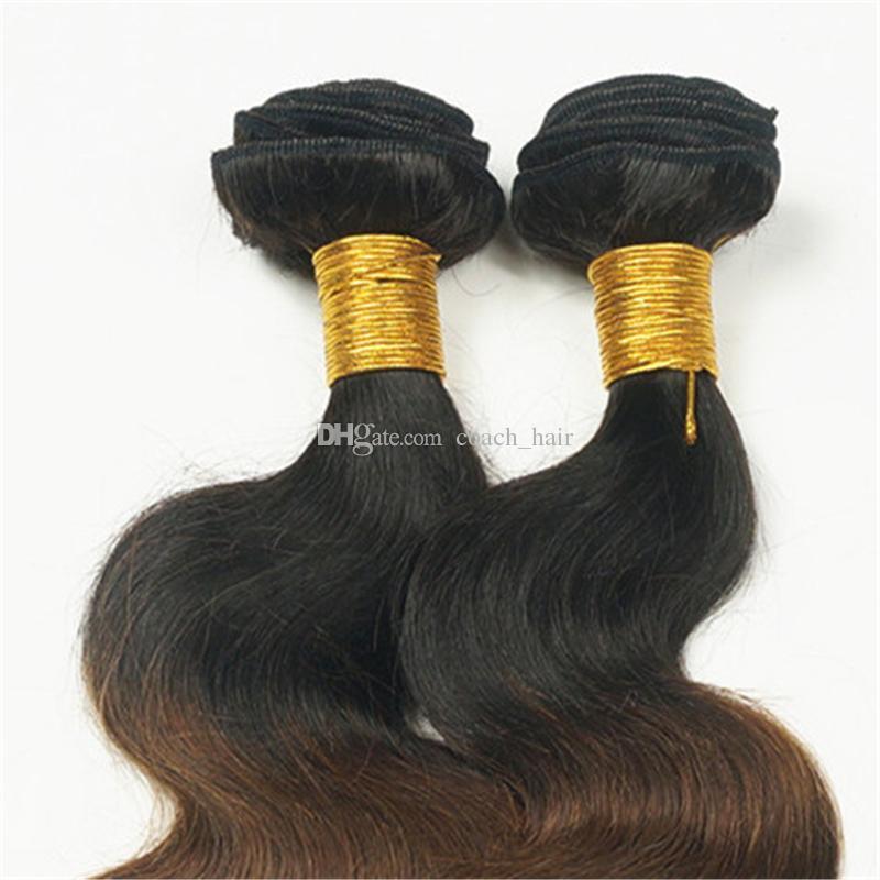 8A # 1B / 4/27 Mel Loira Ombre Onda Do Corpo Do Cabelo Humano Virgem Feixes Com 360 Lace Banda Frontal Encerramento Três Tons Ombre cabelo