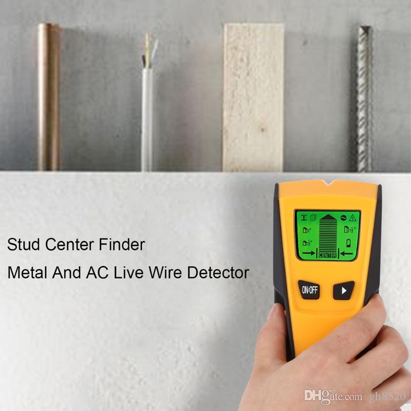 Universal 3 en 1 detectores de metales Encontrar metal Madera Studs Voltaje de CA Live Wire Detectar Wall Scanner Detector de pared eléctrico Detector de pared a través de DHL