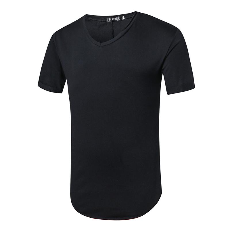 Online Shopping Solid Black Colour T Shirt Men 2017 V Neck M~xxl ...