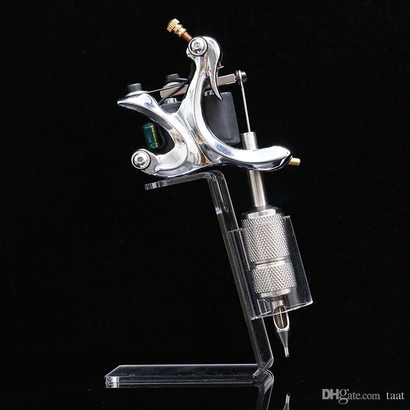 Chegada nova Tatuagem Caneta Exibição Acrílico Tattoo Machine Gun Stand Titular Rack de Armas de Tatuagem Resto Organzie Kit Fornecimento TA287