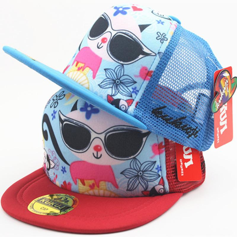 Cool Summer Mesh Cap Baseball Caps for Children Kids Sunglasses ... 0969e43c412e