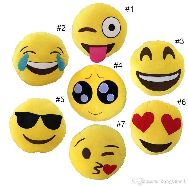 الرموز التعبيرية وسادة 30 سنتيمتر أفخم الوسائد qq مبتسم العاطفة لينة أريكة الوسائد الزخرفية شمس محشوة أفخم لعبة دمية هدية عيد لفتاة