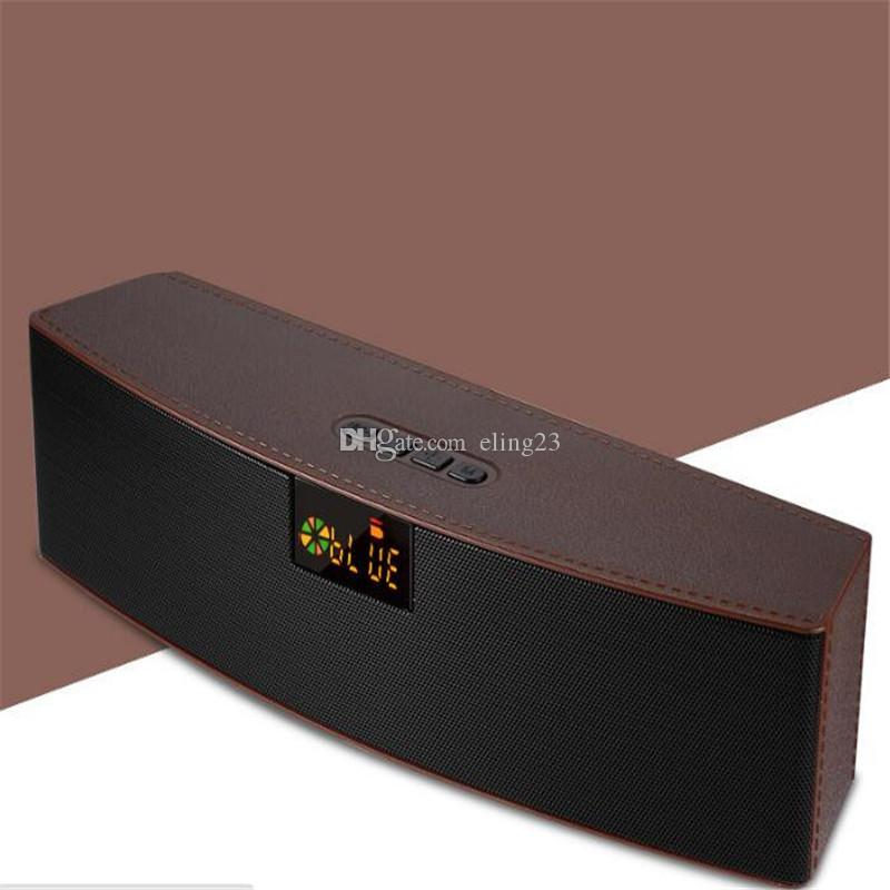 2018 best selling new wireless portable vehicle hands-free card overweight subwoofer LED Bluetooth speaker