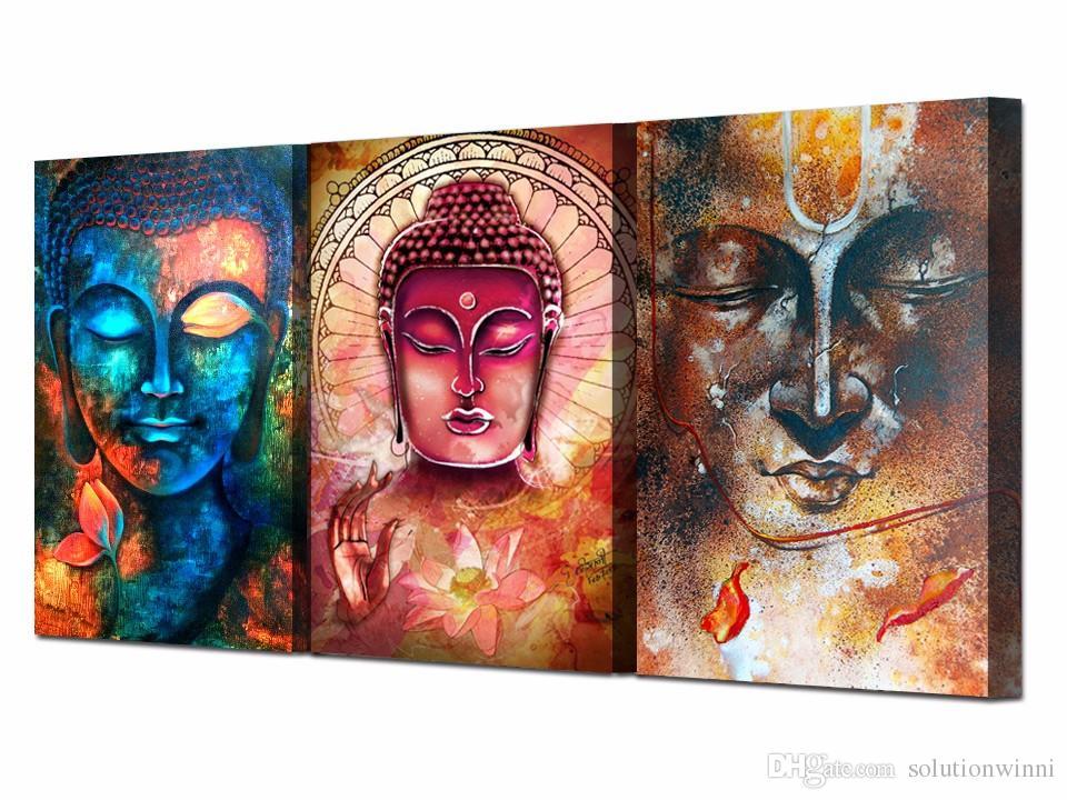 HD imprimé Bouddha portrait art peinture toile de toile d'impression décor de la salle d'impression affiche picture table murale peinture art