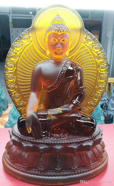 Yeni Buda heykeli eczacılar lapis lazuli ışık 7 renkler mavi yeşil beyaz kehribar sır tıp guru ülkede Budizm heykeli ülkede