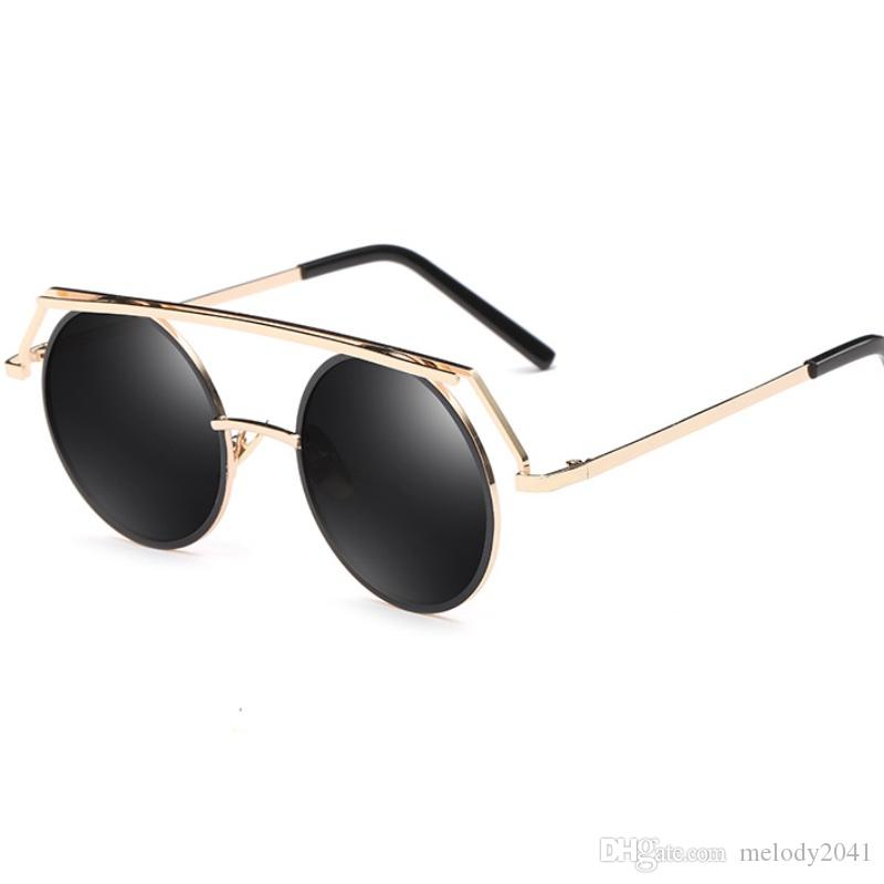 0fa1089045c 2017 Vintage Shape Round Frame Sunglasses For Women And Men Metal Frame  With Reflective Mirror Lenses Wholesale Price Heart Sunglasses Circle  Sunglasses ...