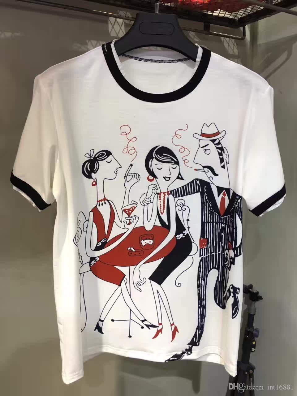 2017 Summer New Fashion Brand T Shirt Men High Quality D G Boss ...