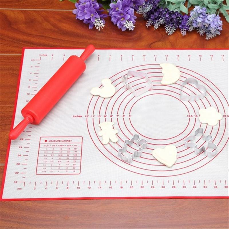 Cuisson au four Rouleau Pâte Pâtisserie Pain Silicone Ustensiles De Cuisson Résistance À La Chaleur Table Tapis Pâtisserie Cookie Pâte Pâtisserie Outils de Cuisson