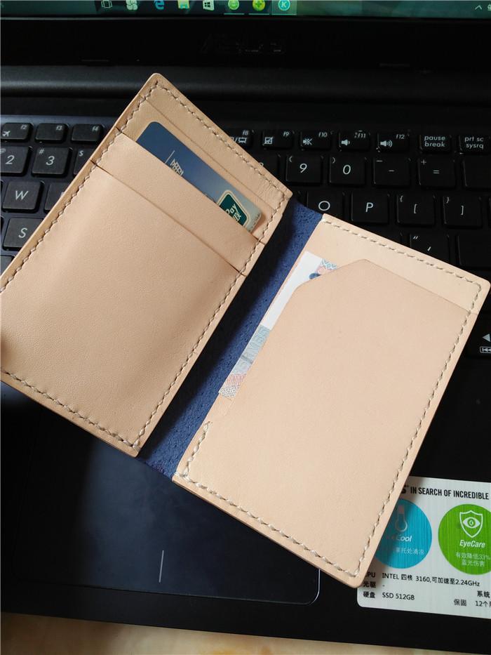 Leather Wallet, Men's Genuine Leather Slim Card Holder Minimalist Simple Modern IDbag Handmade Billfold Natural Sewing Passport Bag Special