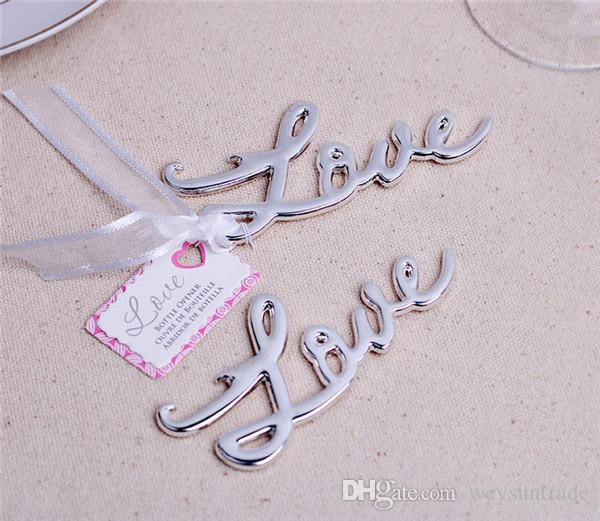 NEW ARRIVAL+Best Quality Chrome Love Bottle Opener Wedding & Bridal Shower Favors and Gift For Guest