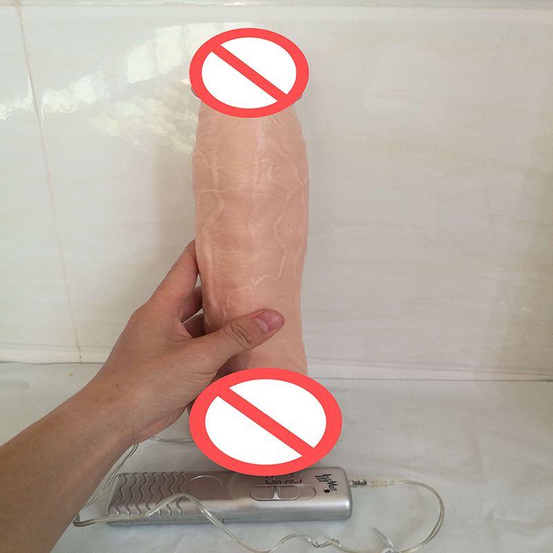 2017 Nuovo 12 pollici super grande ventosa in silicone dildo Pene vibratore realistico enorme dildo le donne prodotti del sesso la masturbazione femminile