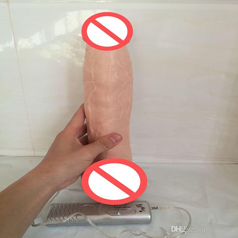 2017 Yeni 12 inç süper büyük silikon vantuz yapay penis için Gerçekçi penis Vibratör büyük dildos kadınlar için seks ürünleri kadın mastürbasyon