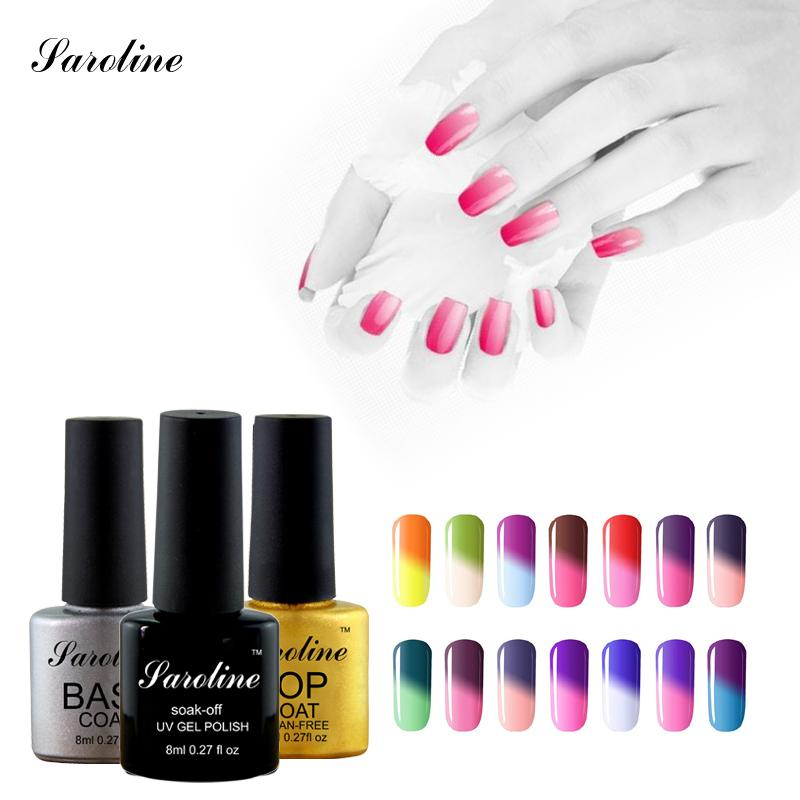 Wholesale Saroline Resin Nail Gel Polish Mood Temperature Thermal ...