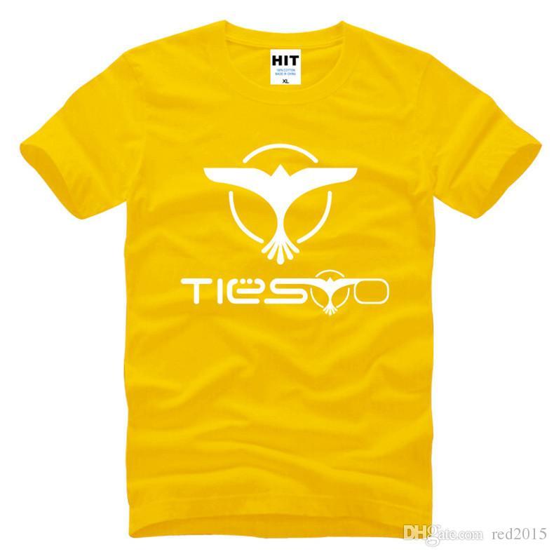 Hombres al por mayor-Casual DJ Tiesto Trance Rock Music Logo Camisetas Moda Eagle Cool Design Tshirts Camisetas de manga corta
