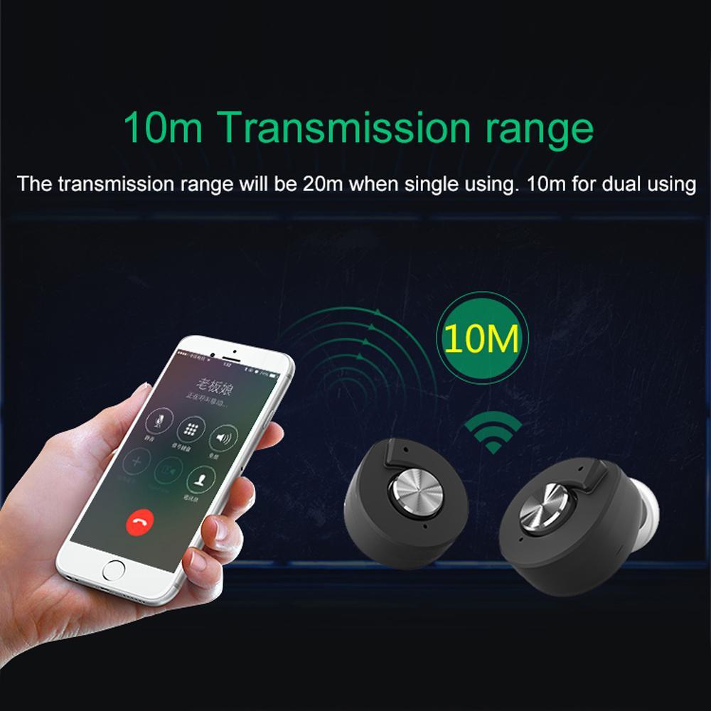 TWS T8 Bluetooth Écouteurs Mini Stéréo Sport Écouteurs True Headset sans fil avec Boîte de Recharge Intelligente pour iphone 6 7 Plus xiaomi