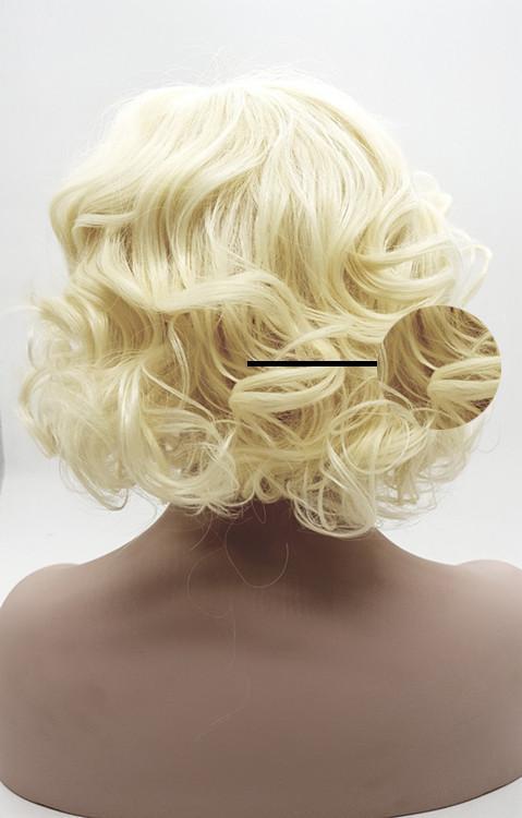 XT1028 Золотой пушистый большая волна чистых натуральных волокон, синтезированных популярных ролл парик европейских женщин