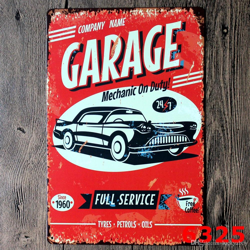 Beauty Automobile My Garage My Rules Ancient Metal Poster Wall Decor Bar Home Vintage Craft Gift Art Iron painting Tin PosterMixed designs