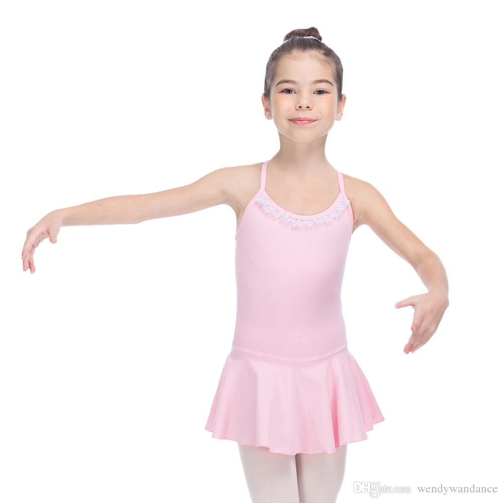Compre Algodón / Lycra Camisole Cross Back Ballet Leotardo Dress ...