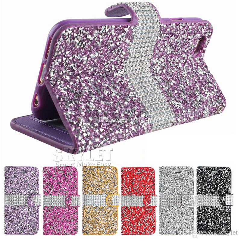 iphone 8 case glitter wallet