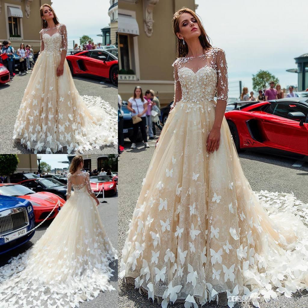 Cheap Pearl Backless Beach Wedding Dress Discount Bohemian Style Backless Wedding  Dress 58d9b0a512f4