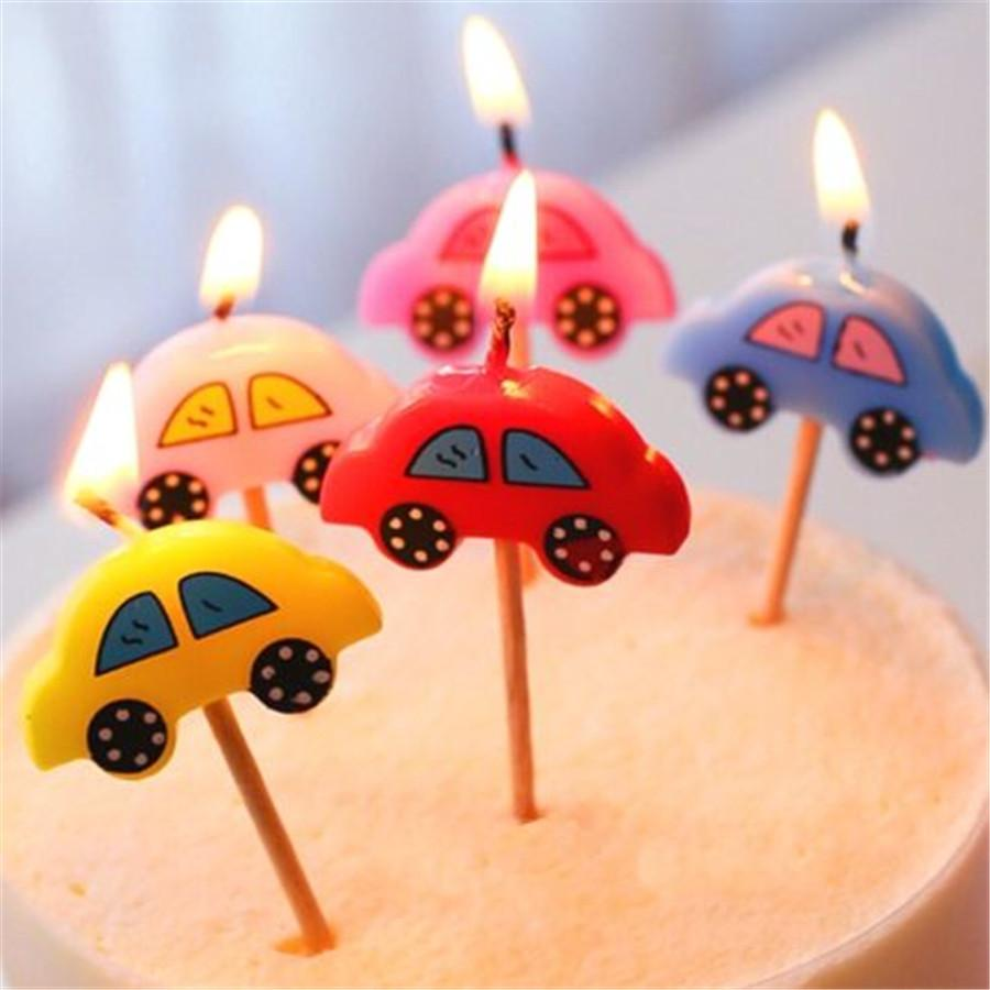 2019 Wholesale FD3114 New Happy Birthday Candles Toothpick Cake Party Decor Cute Car Set From Galry 2027