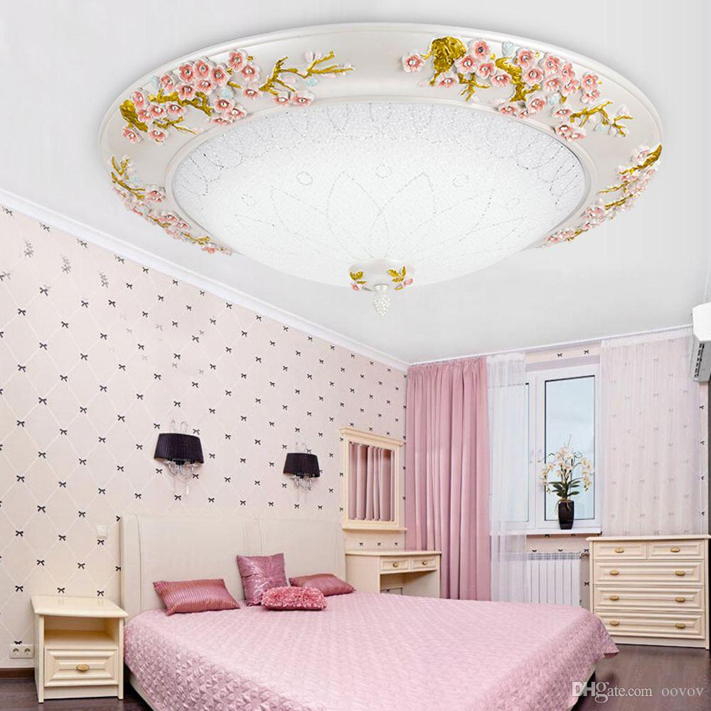 OOVOV European Resin Bedroom Ceiling Light Girls Room Princess Room Ceiling Lamps,12W,LED,Glass,Round