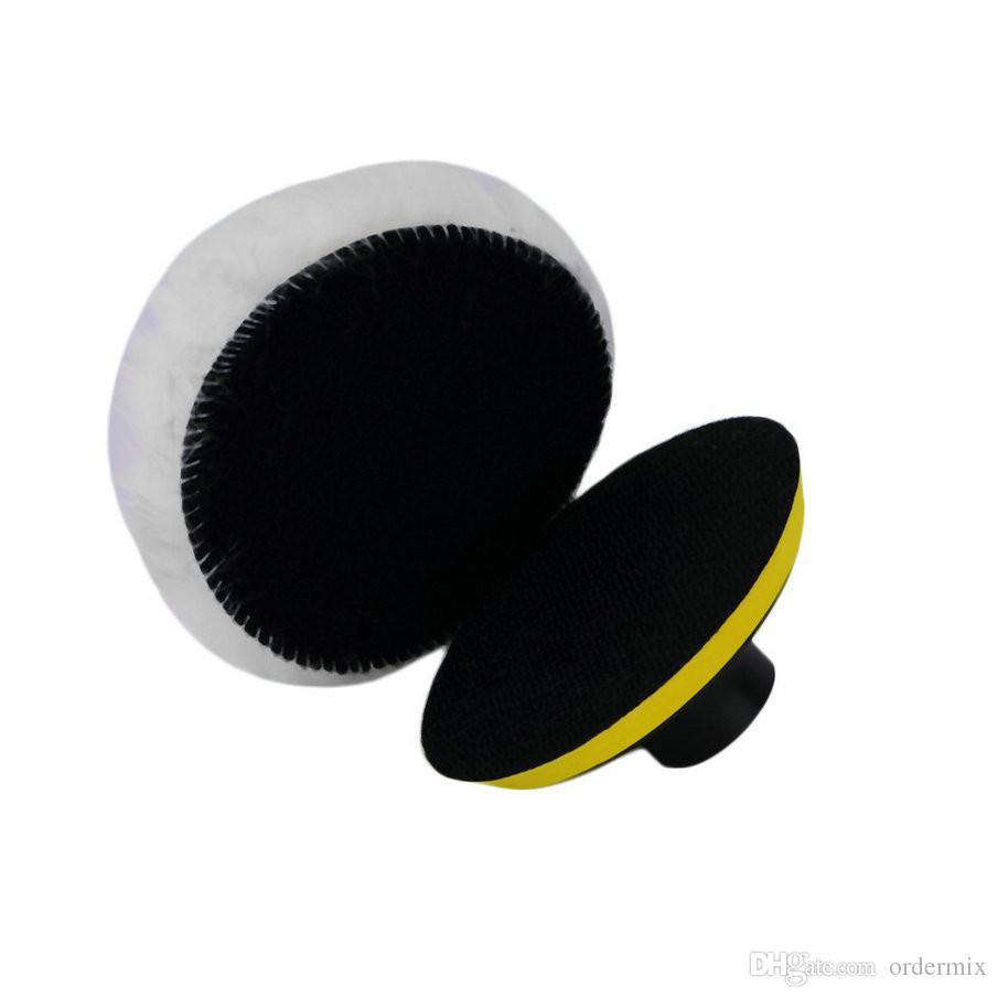 Conjunto de almohadilla de esponja de pulido de 3 pulgadas Set + adaptador de perforación para pulidor de automóviles
