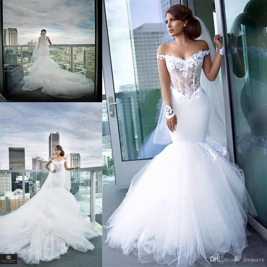 Gorgeous Wedding Dresses Sexy Mermaid Off The Shoulder Sheer Long Sleeve Illusion Bodices Low Back Cathedral Train Vestidos De Novia Gowns Glamorous: Gorgeous And Unique Wedding Dresses At Reisefeber.org