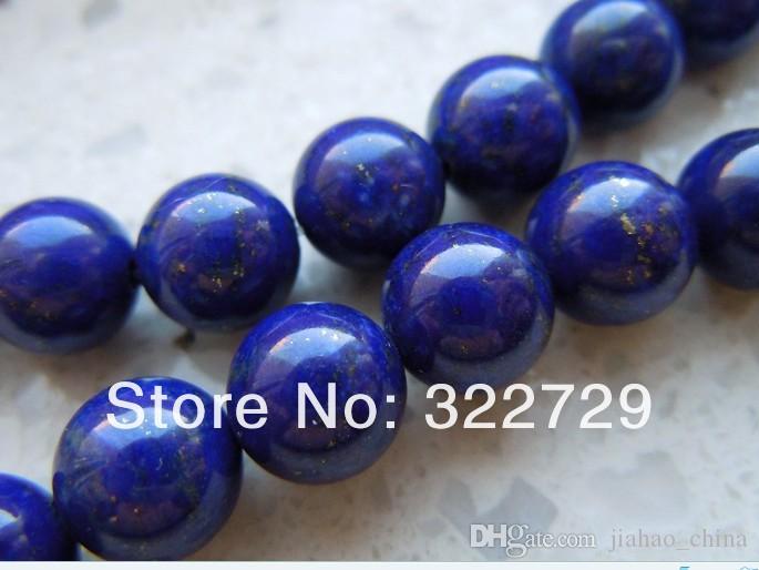 Naturels de haute qualité bleu égyptien lapis ronde Perles 4 6 8 10 12 14mm __gVirt_NP_NNS_NNPS<__ pierres semi-précieuses