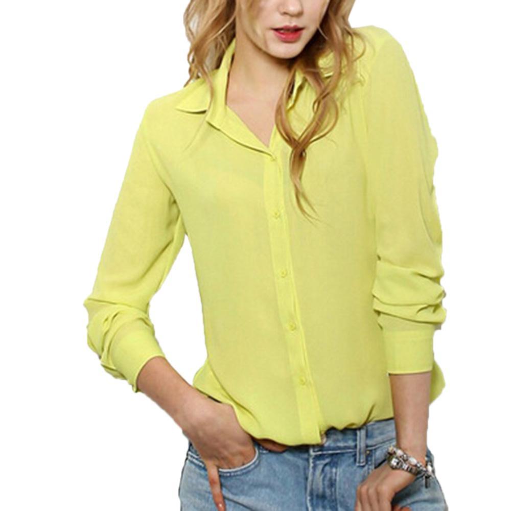 2017 Hot Sale New Women'S Office Lady Ol Shirts Womens Work ...