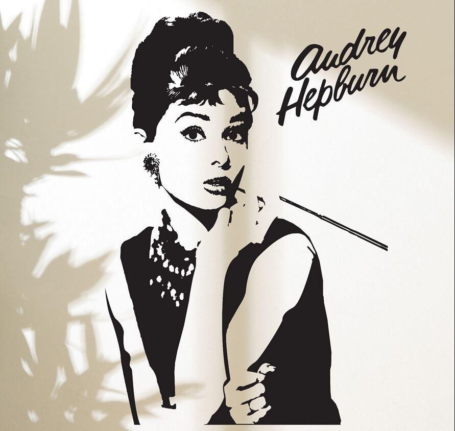 Adesivi Murali Audrey Hepburn.Acquista Moda Dea Audrey Hepburn Adesivo Adesivi Home Decor Trucco