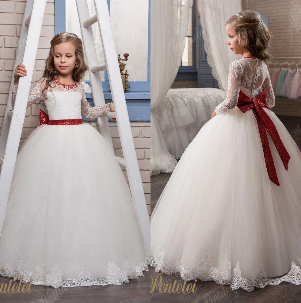 Designer Flower Girls Dresses 2017 Pentelei With Long Sleeves And ...