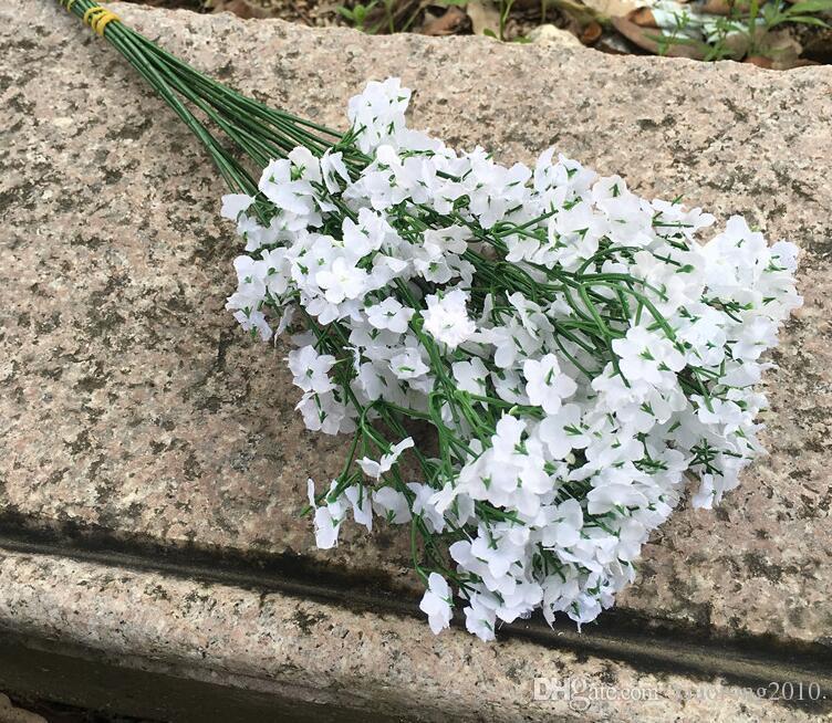 Witte kunstmatige gypsophila bloem paniculata babysbrel bloemen zijde bloemen voor floral arrangement deel kerst decoratieve bloem