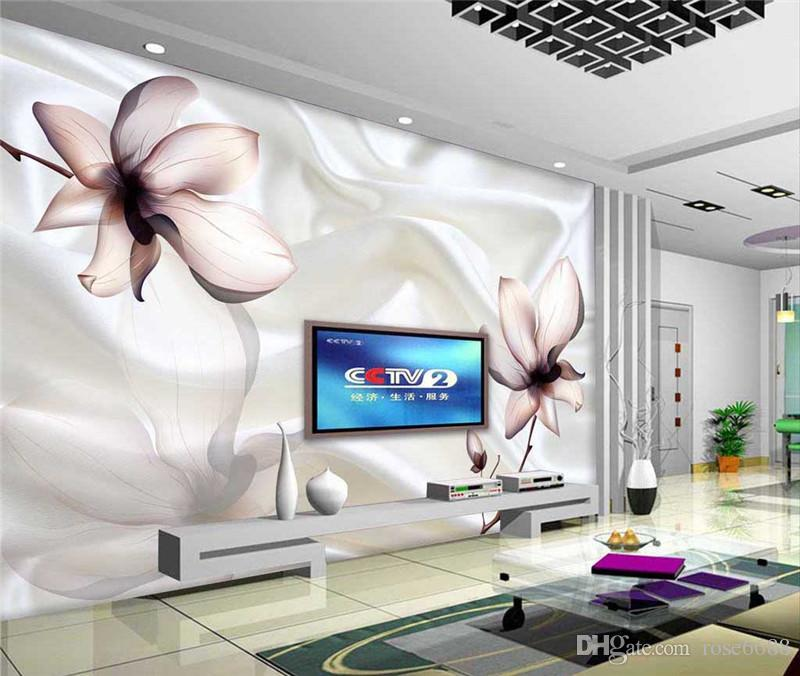 modern living room wallpapers silk fabric flower 3d stereoscopic wallpaper home bedroom decoration hd images wallpaper hd images wallpapers from rose6688 - Flower Wallpaper For Home