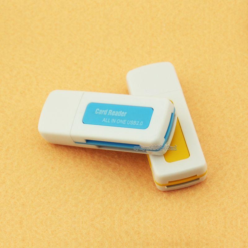 USB 2.0 4 em 1 memória Multi Card Reader para M2 SD SDHC DV Micro SD TF specifictaion USB Ver2.0 480Mbps