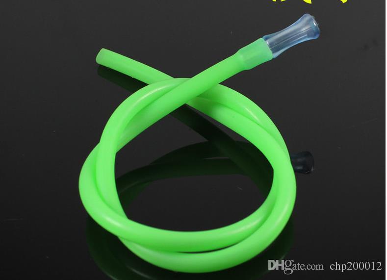 Manguera de manguera de tubo de silicona Accesorios de cubo de cachimba paja de color transparente insípido de alta temperatura de grado alimenticio