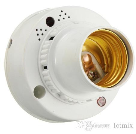 New Lamp Base E27 Sound Voice Light Control Sensor Delay Switch Socket Lamp Base Holder AC 220V For Corridor