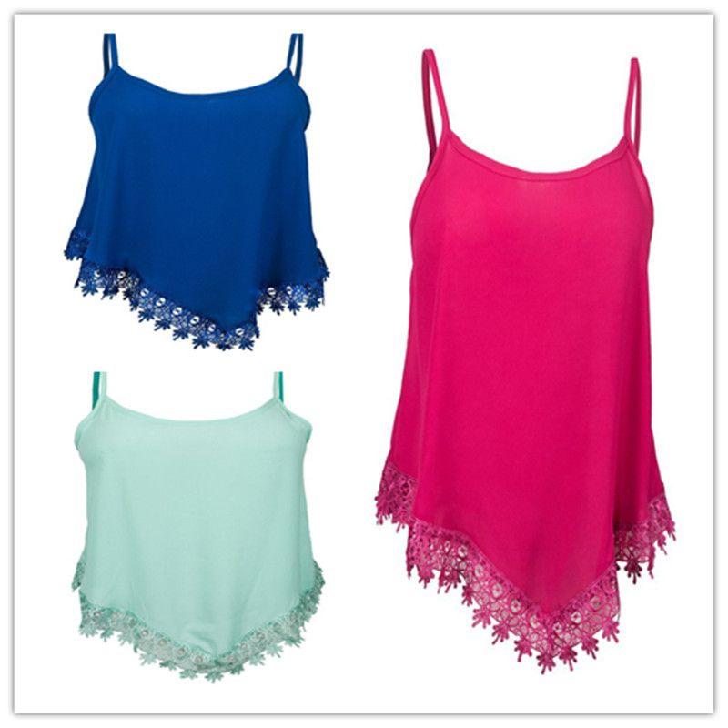 91b0fba2e5b 2018 Summer Chiffon Camis Brandy Melville Women Candy Color Vest Halter  Tank Top Plus Size S-xxl Free Shipping