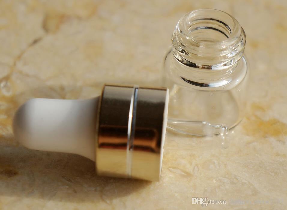 1ml 2ml 3ml Ambre compte-gouttes Mini bouteille en verre Flacon de présentation d'huile essentielle Petit sérum Parfum Marron Échantillon