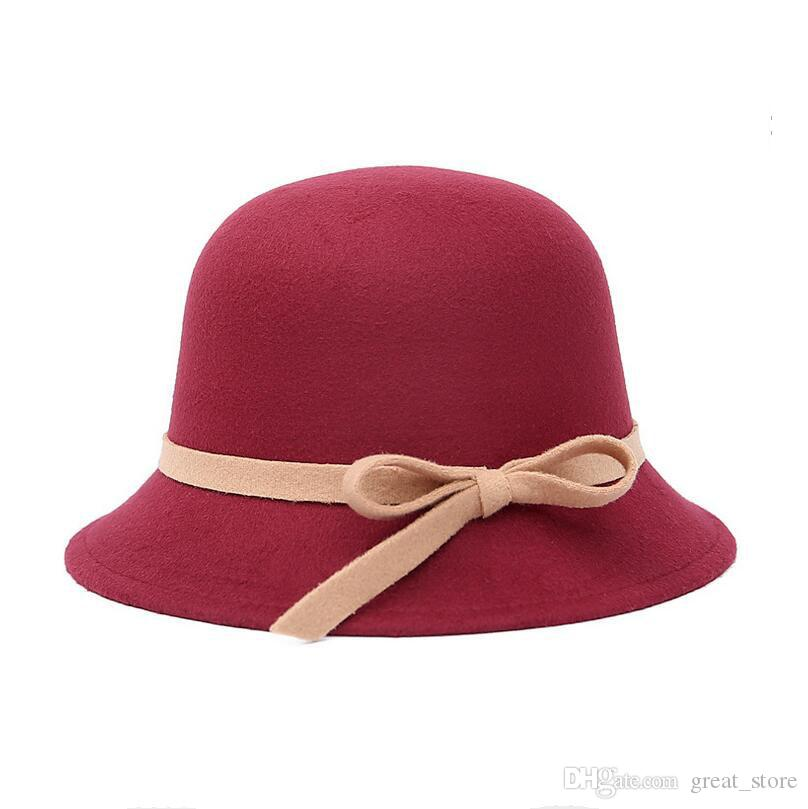 British retro dome ladies hat autumn and winter warm imitation wool wool hat hat ceremony cap M013 with box