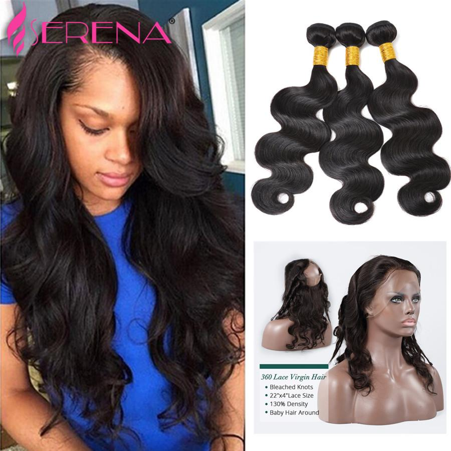 human hair weave lace frontal 360 lace frontal Brazilian hair extensions weave human hairs bundles body wave hairs weaves 360 with bundle