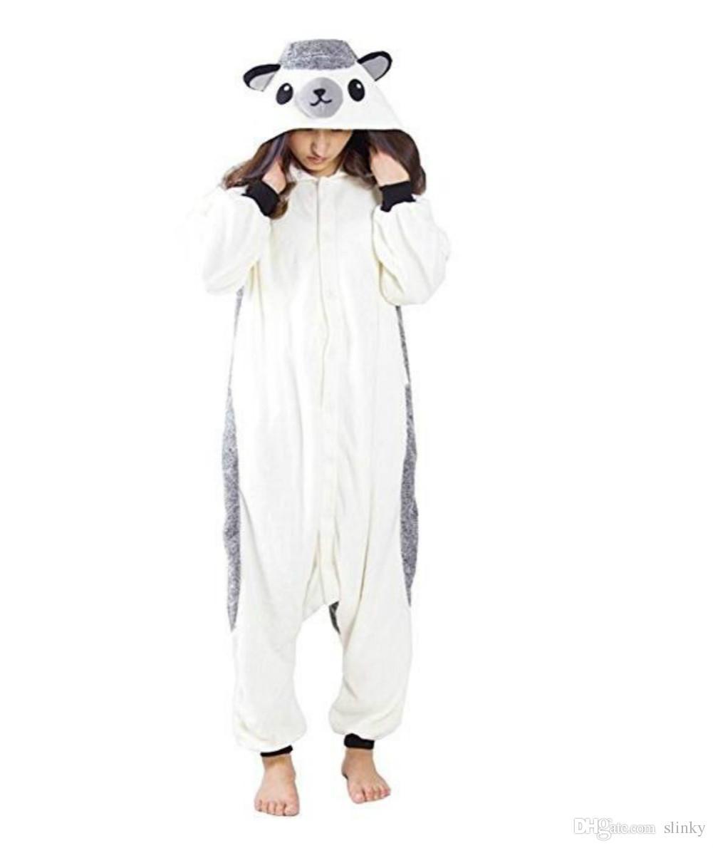 Hedgehog Stock Warm Unicorn Kigurumi Pijamas Trajes de animales Cosplay Disfraz de Halloween Ropa para adultos Monos de dibujos animados Unisex Ropa de dormir de animales