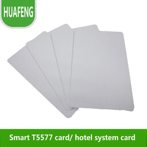 Wholesale- Free shipping by DHL,Newly Temic T5577,RFID Smart cards ,125k, RFID Hotel cards, can read and write, min:500pcs