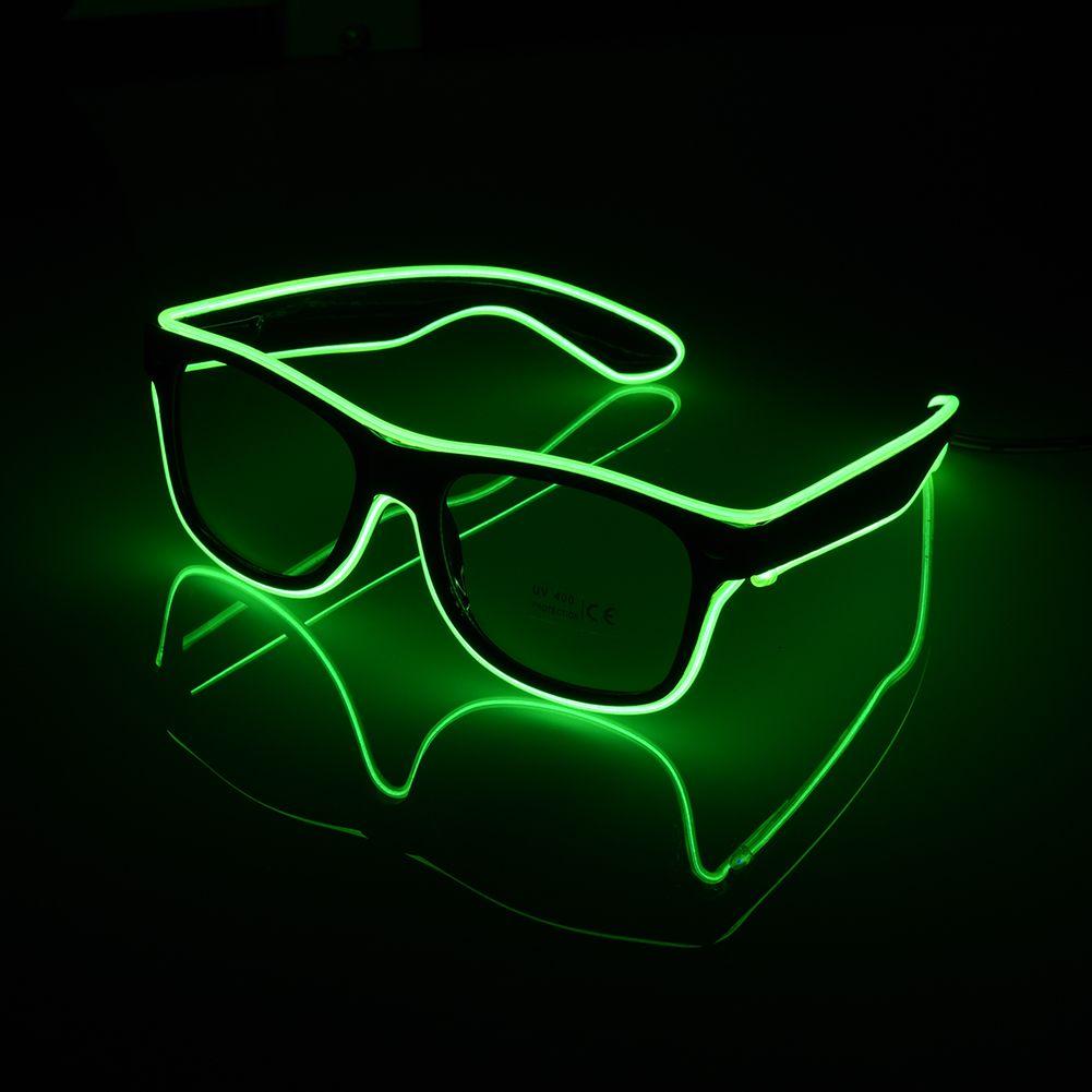 Led El Wire Glasses Dj Nightclub Party Light Up Glow Sun Glasses ...