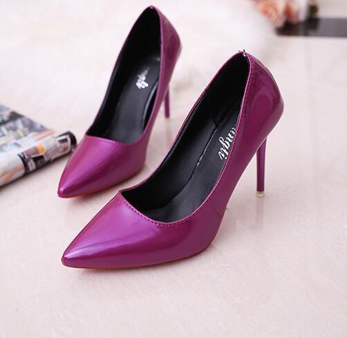 Femmes chaussures à talons hauts modèle de base pompes dame sexy bout pointu chaussures de mariage rose pompes rouges chaussures de peinture à la main